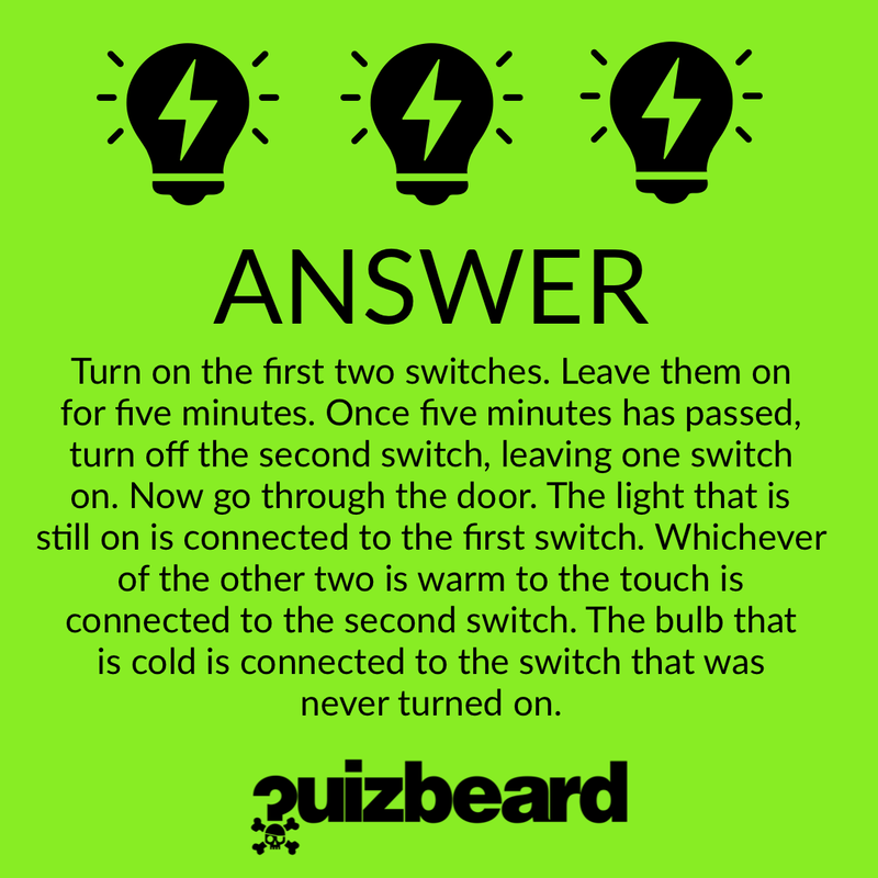 Quizbeard Weekly Trivia Quiz Podcast Light Bulb Riddle
