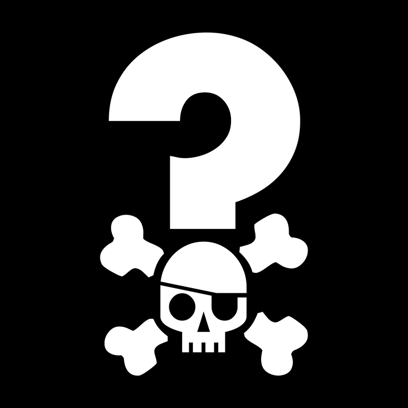 Quizbeard Weekly Trivia Quiz Podcast Pirate Flag Logo