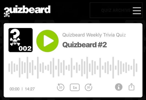 Quizbeard Weekly Trivia Quiz Podcast Number 2