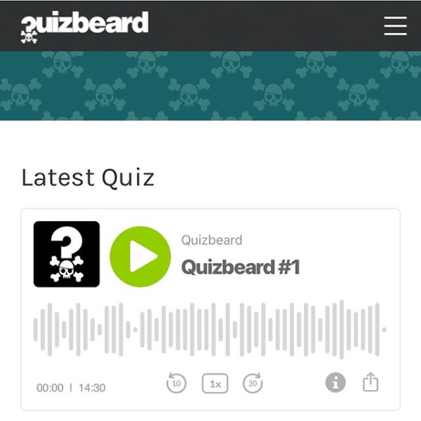 Quizbeard Weekly Trivia Quiz Podcast Number 1
