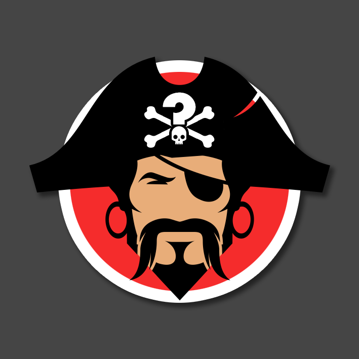 Quizbeard Weekly Trivia Quiz Podcast Early Pirate Logo Design
