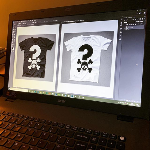 Quizbeard Weekly Trivia Quiz Podcast T-shirt Design on Photoshop